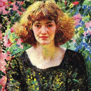 Laura Knight, Rose and Gold, 1914