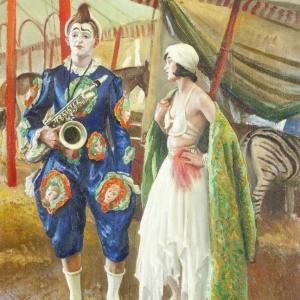 Laura Knight, A Musical Clown, 1930