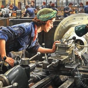 Laura Knight, Ruby Loftus Screwing A Breech Ring, 1943