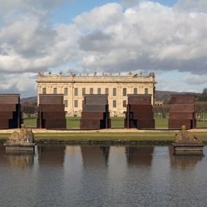 Anthony Caro, Goodwood Steps, 1996, Varnished Steel