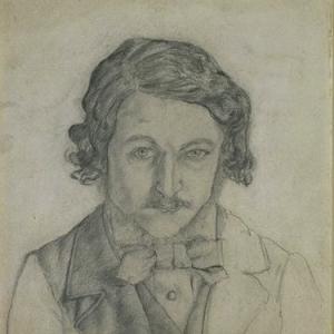 William Morris, self-portrait, 1856, pencil drawing