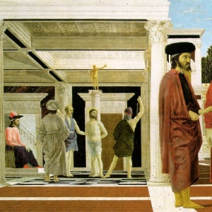 Piero della Francesca. Flagellation of Christ. c. 1460. Oil Painting