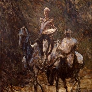 Honoré Daumier, Don Quixote and Sancho Panza, (Don Quichotte et Sancho Panza,) 1870