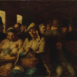 Honoré Daumier, The third class railway carriage, (un wagon de troisième classe), 1862-64