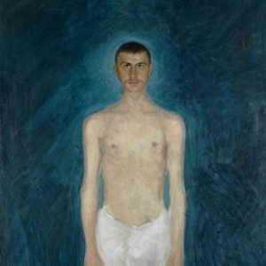 Richard Gersti, Semi-nude self-portrait, 1904 05
