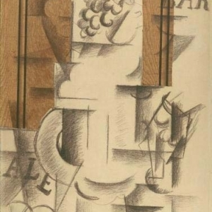 Compote and Glass, Georges Braque