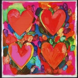 Jim Dine, Four Hearts, 1969