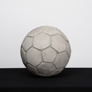 Khaled Jarrar 'Football' 2012 Cement Sculpture, 23 cm
