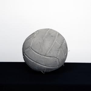 Khaled Jarrar 'Volleyball' 2012 Cement Sculpture, 19 cm diameter