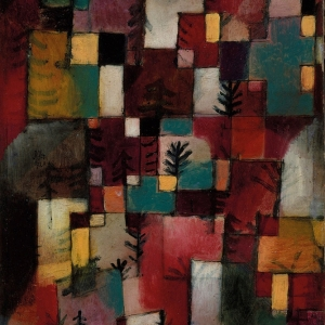 Paul Klee, Redgreen and Violet-Yellow Rhythms, 1920