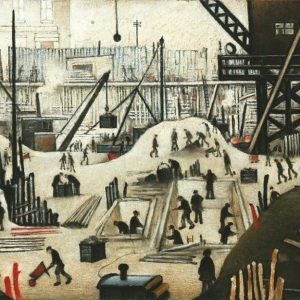 Lowry, Excavating in Manchester, 1932