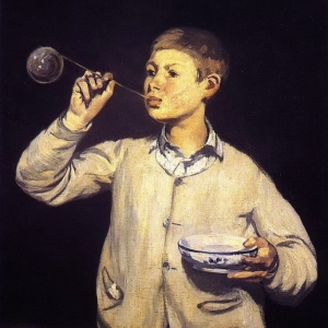 Manet,Boy Blowing Bubbles, 1867