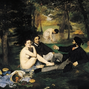 Manet, Dejeurner sur L'Herbe, 1862