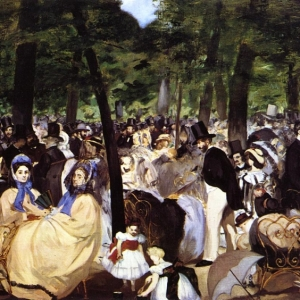 Manet, Music in the Tuileries Gardens, 1862