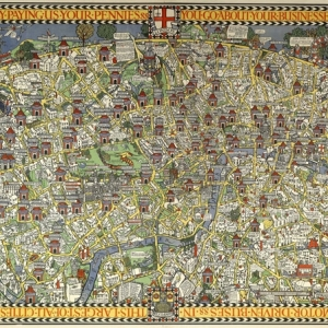 MacDonald 'Max' Gill, the Wonderground map of London, 1914