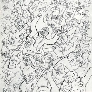 George Grosz, Pandamonium, 1914, ink