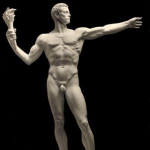 Arno Breker, Die Partei (The Great Torchbearer), 1940, sculpture