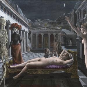 Paul Delvaux, Sleeping Venus, 1944, oil