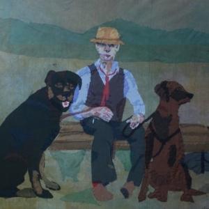 Monica Gallon, Tisdag Morgon Tuesday Morgon, textile on canvas