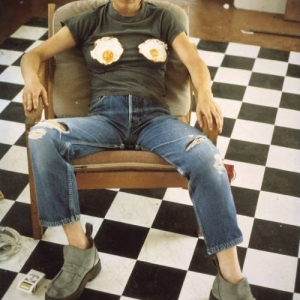 Sarah Lucas, Self Portrait with Fried Eggs, 1996
