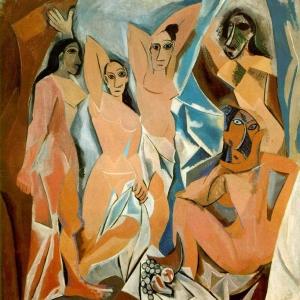 Pablo Picasso, Les Demoiselles d'Avignon, 1907, oil