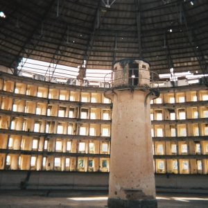 Prison based on a panopticon model, which is similar to the structure of the Narrenturm