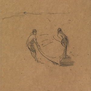 Whistler, Two Men and a Boat, 1872-76
