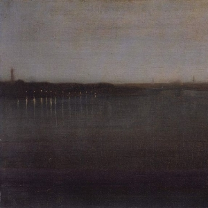 Whistler, Nocturne Grey and Gold Westminster Bridge, 1874 77