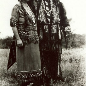 Chief Paul Miles and his wife Nannie, Pamunkey Reservation. Photo credit NMAI photo archives