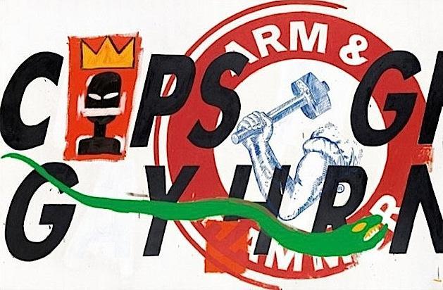 Basquiat and Warhol, Cops, 1984