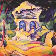 Braque, Landscape at L'estaque, 1907