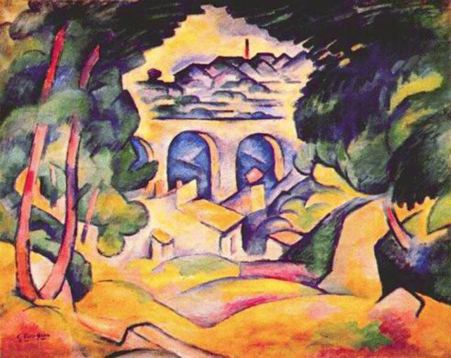 Braque, Landscape at L'estaque, 1907
