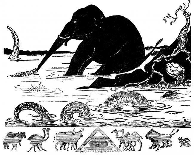 Illustration from Rudyard Kipling's Just So Stories