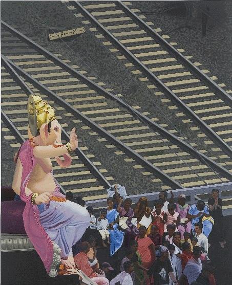 Prajakta Palav, Untitled II, 2007. Acrylic Paint