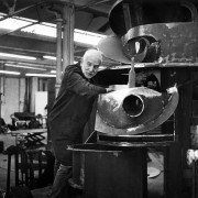 Sir Anthony Caro in his Studio, Photograph by Anne Purkiss