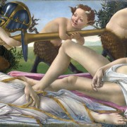 Sandro Botticelli, Mars and Venus, 1483. Oil Paint