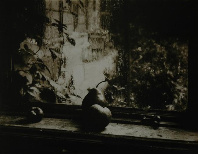 Joseph Sudek, Still Life-Apple and Pear on My Studio Window, 1950.