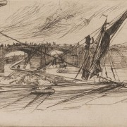 Whistler, Vauxhall Bridge, 1861. Etching