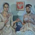 Maria Strzelecka, Mr & Mr A, Oil on Canvas