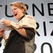 Laure Prouvost accepting the 2013 Turner Prize